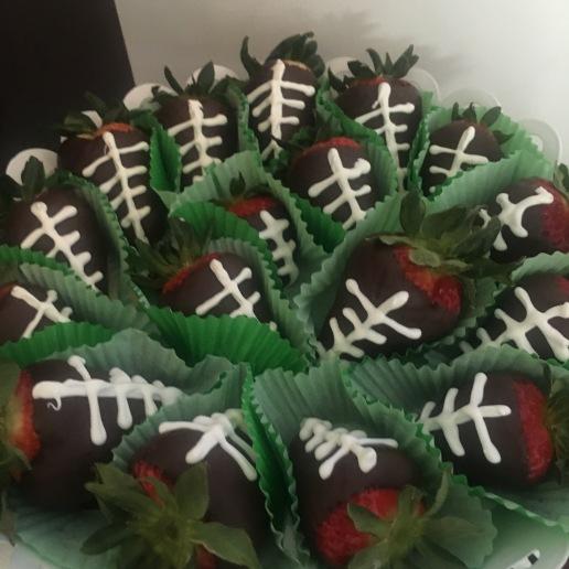 Custom Dipped Strawberry Footballs